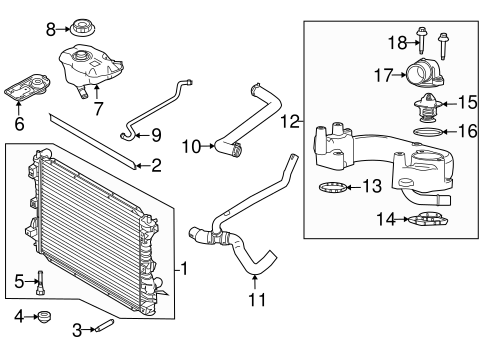 RADIATOR & COMPONENTS for 2010 Ford Mustang
