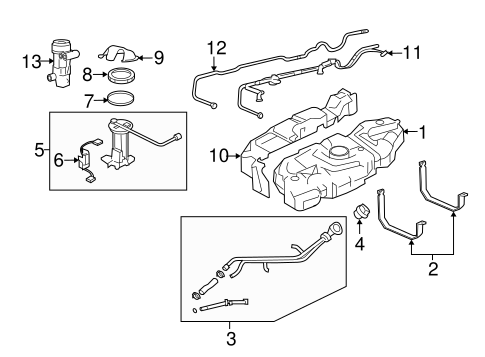 FUEL SYSTEM COMPONENTS for 2007 Lincoln Navigator