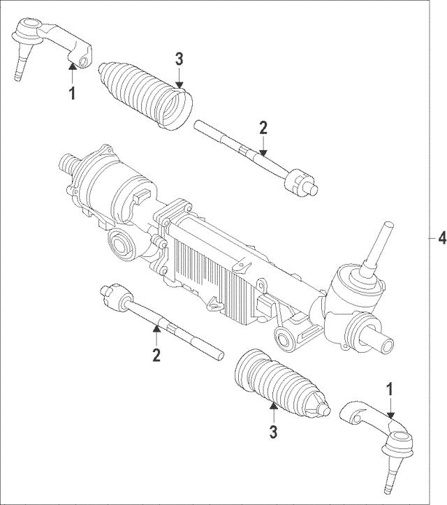 Genuine OEM 2011-2014 Ford F-150 Steering Gear EL3Z-3504