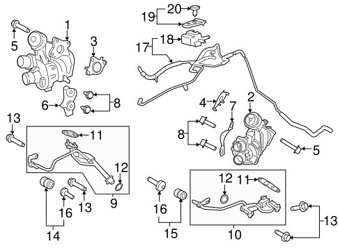 Turbocharger & Components for 2016 Ford Transit-250