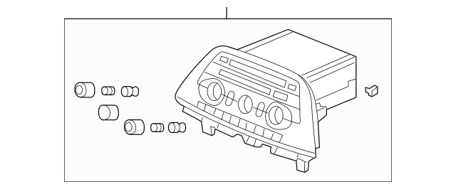 Genuine OEM 2010 Honda ODYSSEY 5-DOOR Tuner Assembly