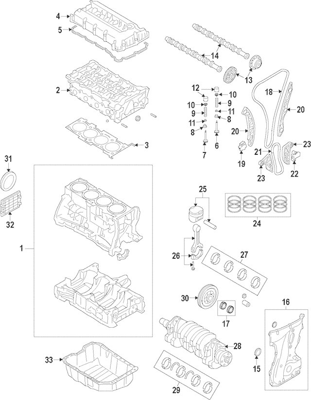 Genuine OEM Timing Chain Part# 24321-25000 Fits 2006-2013