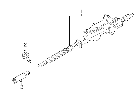 STEERING COLUMN ASSEMBLY for 2006 Chrysler 300