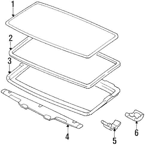 SUNROOF for 1993 Toyota Pickup