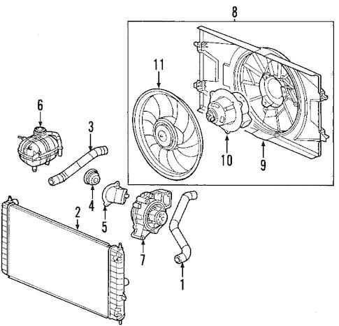 OEM 2007 Pontiac Solstice Cooling System Parts