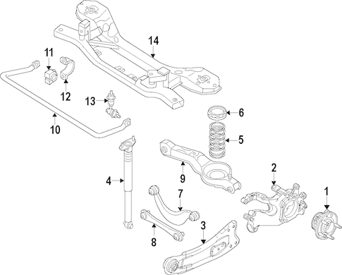 REAR SUSPENSION for 2012 Ford Focus
