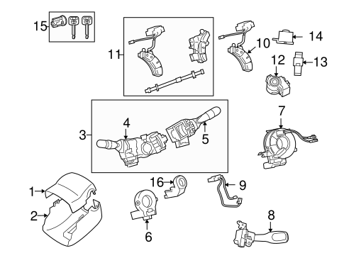 Genuine OEM Switches Parts for 2007 Toyota Tacoma Base
