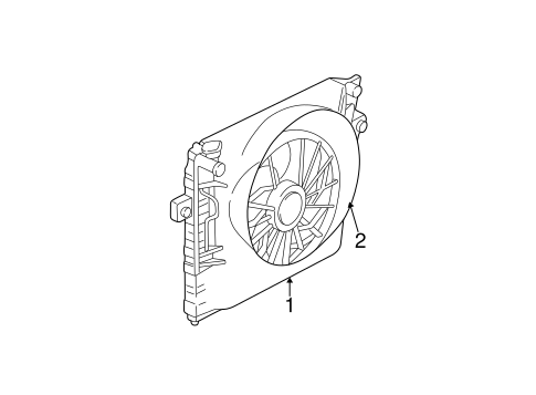 COOLING FAN for 2004 Jeep Grand Cherokee