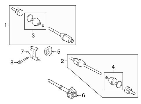 DRIVE AXLES for 2010 Mercury Mariner