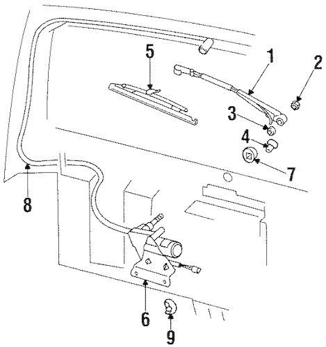 WIPER & WASHER COMPONENTS for 2000 Jeep Cherokee