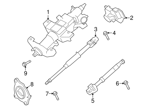 Steering Column Assembly for 2008 Ford F-250 Super Duty