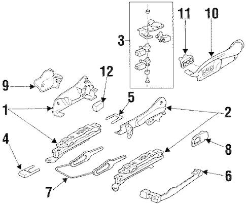 OEM 2002 Pontiac Grand Prix Seats & Track Components Parts