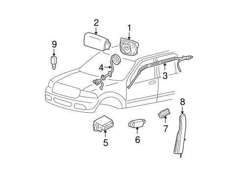 AIR BAG COMPONENTS for 2005 Mercury Montego