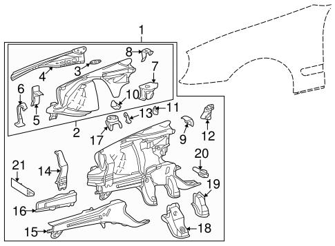 Structural Components & Rails for 1999 Mercedes-Benz CLK