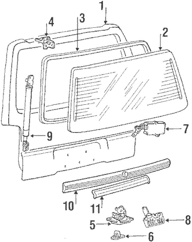 Genuine OEM Lift Cylinder Part# MB337425 Fits 1987-1990