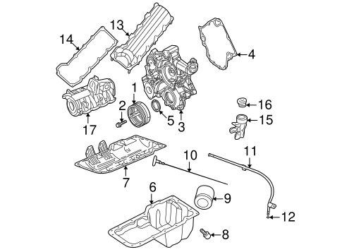ENGINE PARTS for 2001 Jeep Grand Cherokee