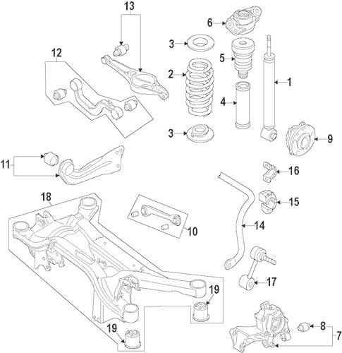 OEM VW Rear Suspension for 2014 Volkswagen Tiguan