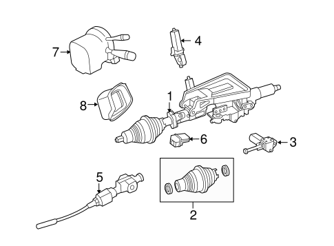 STEERING COLUMN ASSEMBLY for 2012 Mercedes-Benz GLK 350