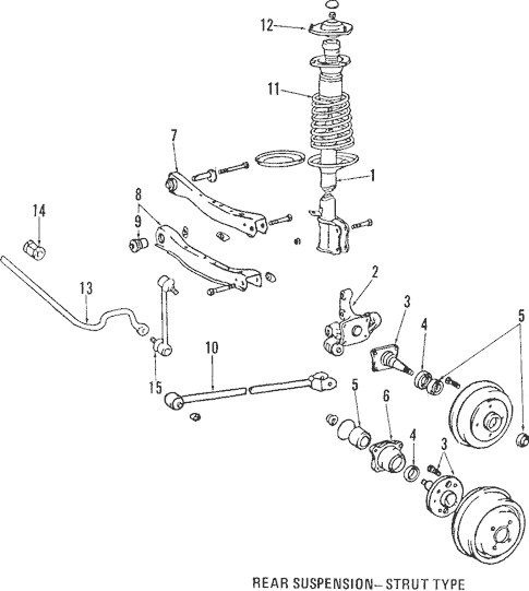 Genuine OEM Rear Suspension Parts for 1988 Toyota Corolla