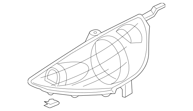 2007-2008 Honda FIT 5-DOOR Headlight Unit, L *R81* (Milano