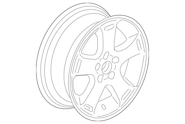 Genuine OEM 2009-2011 Chevrolet HHR Wheel, Alloy 9596844