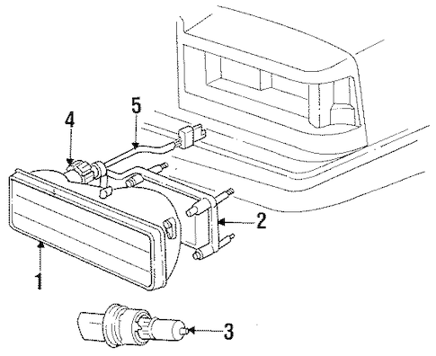 HEADLAMP COMPONENTS for 1989 Dodge Dynasty