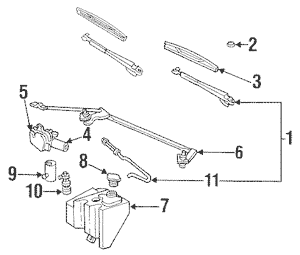 Wiper & Washer Components for 1995 Chevrolet Caprice