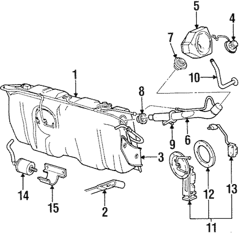 Fuel System Components for 2000 Lincoln Town Car