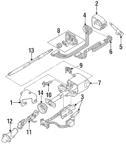 OEM SHROUD, SWITCHES & LEVERS for 1993 Chevrolet Lumina