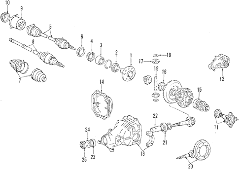 Genuine OEM Rear Axle Parts for 1990 Toyota Camry LE All
