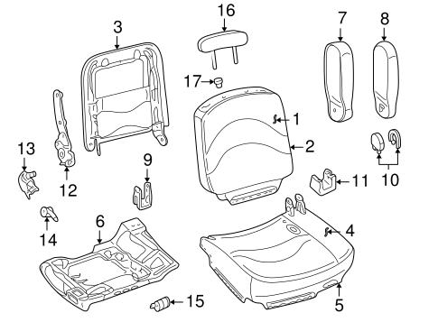 Front Seat Components for 2011 Ford Crown Victoria