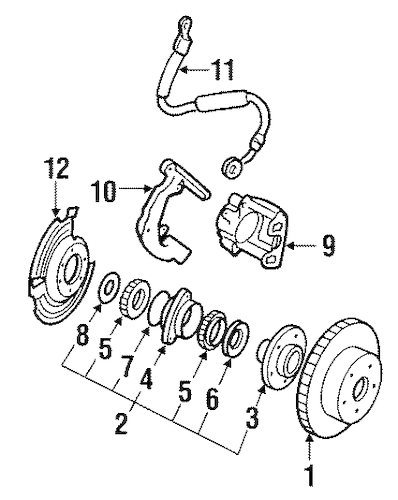 HYDRAULIC SYSTEM for 1989 Jeep Cherokee