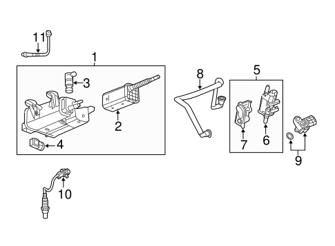 EMISSION COMPONENTS for 2011 Chevrolet Equinox (LT)