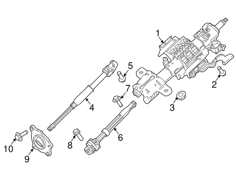 Steering Column Assembly for 2012 Ford F-250 Super Duty