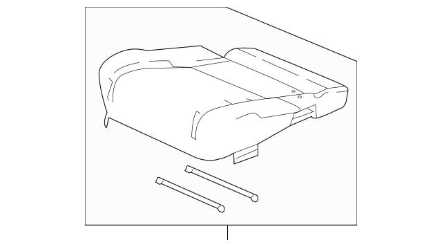 Genuine 2016 Honda PILOT 5-DOOR Cover, R Middle Seat