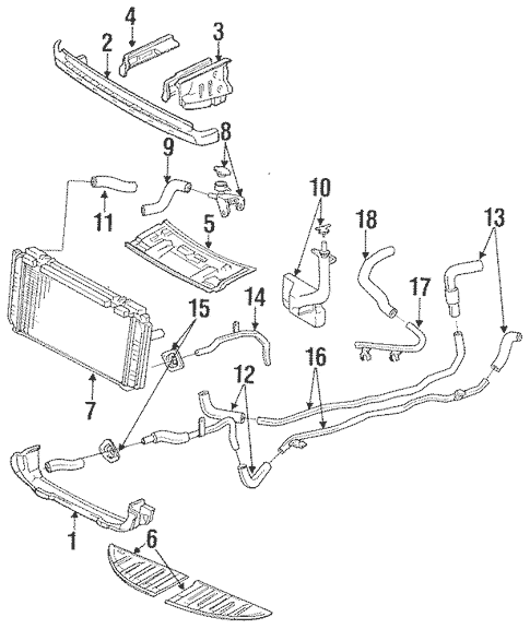 Genuine OEM Radiator Support Parts for 1991 Toyota MR2