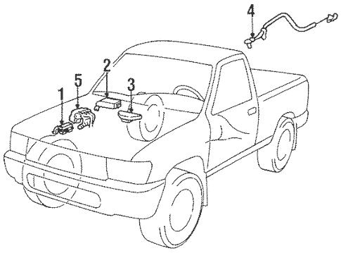 Genuine OEM Anti-Lock Brakes Parts for 1994 Toyota T100
