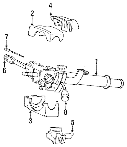 STEERING COLUMN ASSEMBLY for 1993 Dodge W250