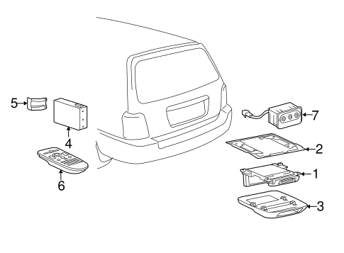 Genuine OEM Entertainment System Components Parts for 2004