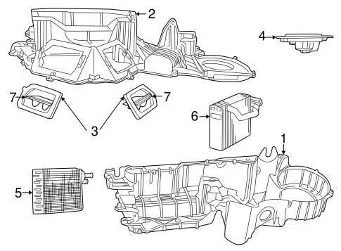 Evaporator & Heater Components for 2001 Dodge Dakota
