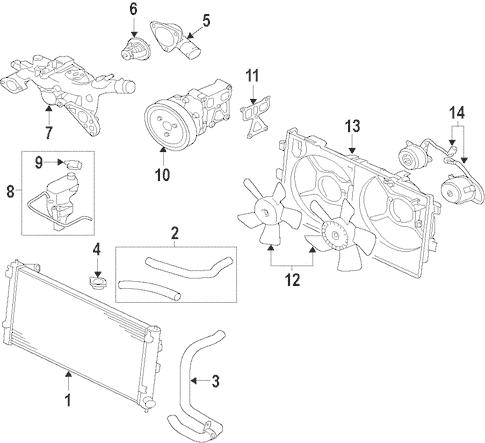 Radiator & Components for 2008 Mitsubishi Lancer Evolution