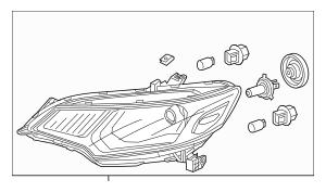 Discount Genuine OEM 2015-2017 Honda FIT 5-DOOR Headlight