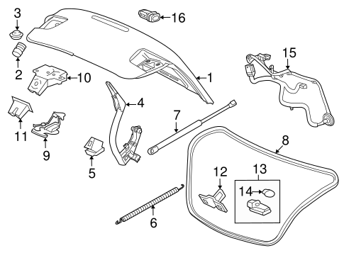 Lid & Components for 2016 Chevrolet Malibu Limited
