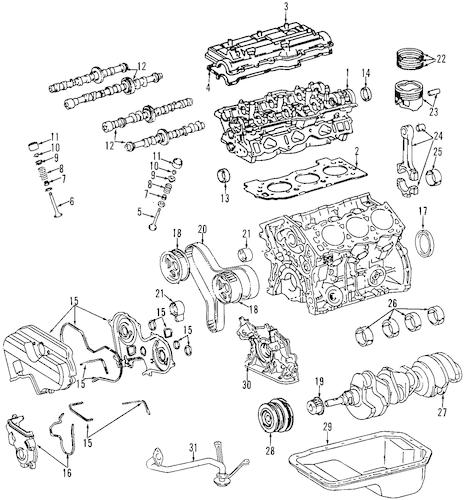 Genuine OEM OIL PUMP Parts for 1997 Toyota T100 SR5
