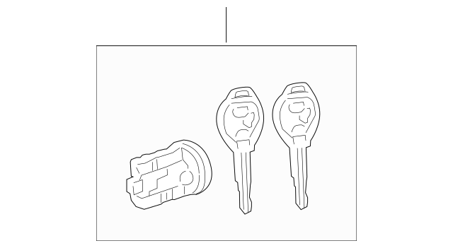 2009-2010 Pontiac Vibe Ignition Lock Cylinder 19184239