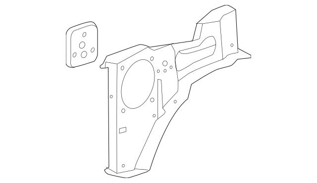 Genuine OEM 2014-2018 Chevrolet Corvette Outer Support
