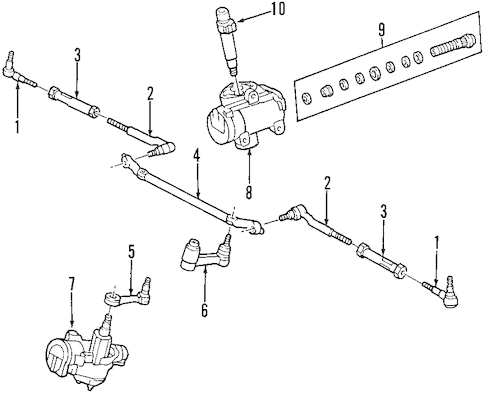 STEERING GEAR & LINKAGE for 2004 Ford F-150