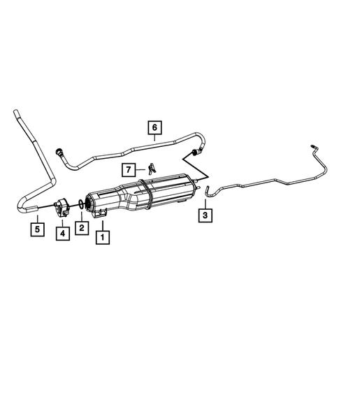 Vacuum Canister/Leak Detection Pump for 2009 Dodge Ram