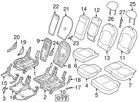 Rear Seat Components for 2012 Mini Cooper Countryman