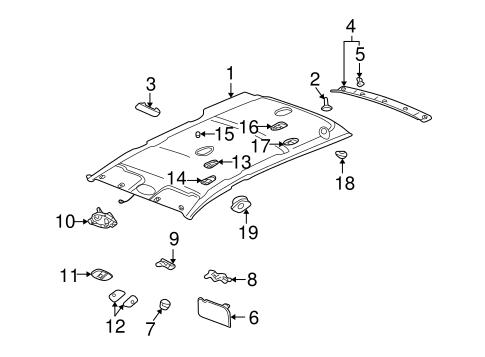 22673218 Map Lamp Bezel for 2003 Saturn Vue : GM Parts